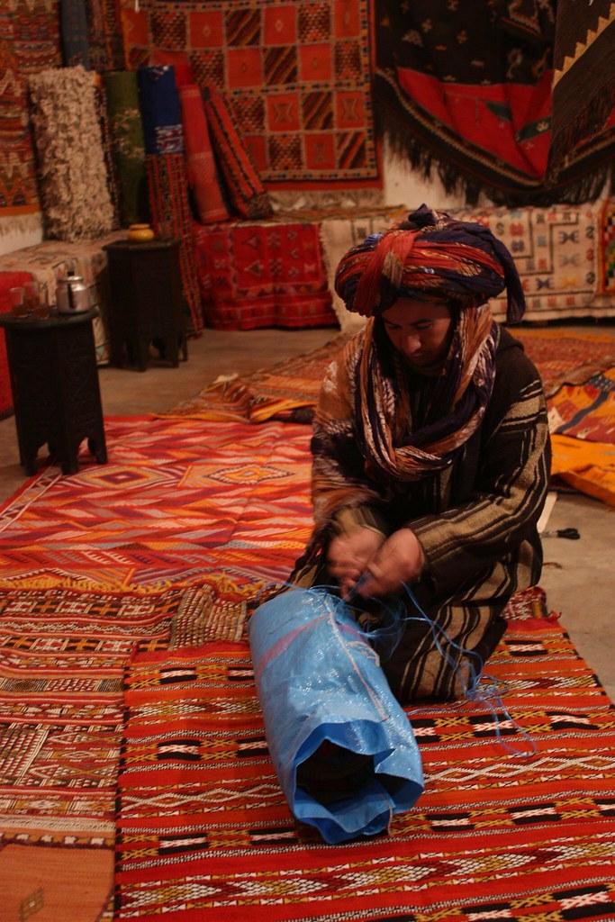 Tuareg carpet salesman