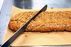 slicing the biscotti