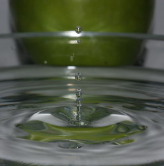 Water Droplet Refraction of an Apple