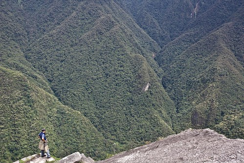 A Watching Man at Wayna Picchu