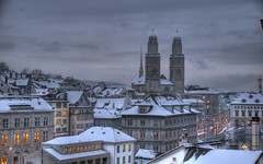 winter in zurich (Toni_V) Tags: city winter church topv111 schweiz switzerland europe tripod zurich rathaus 2008 hdr limmat grossmünster helmhaus d300 limmatquai photomatix 7exp capturenx gitzo1540 18122008 hawaalrayyanfav reflectyourworld