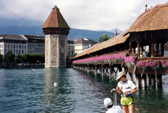 Lucerne (Damian Gadal) Tags: bridge geotagged switzerland lucerne kapellbrcke chappelbridge