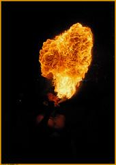 Fire Blower (Nomad's Base) Tags: party india man night fire hand breath blow d200 chennai firebreather patters streetparty fireblower sangamam mywinners abigfave platinumphoto aplusphoto firepatterns thecoolshotsfire