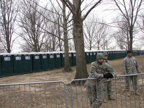 guarding the bathrooms?