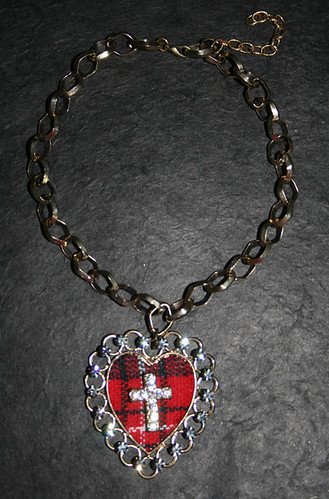 scottish heart necklace