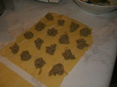 pureed fried chicken liver ravioli