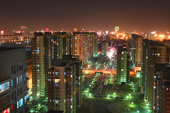 Chinese New Year's Eve (ZERO WANG) Tags: china city longexposure light sky urban color building lamp festival night dark asian photography photo asia long exposure fireworks photos dusk beijing scene scenes peking nightfall digitalcameraclub