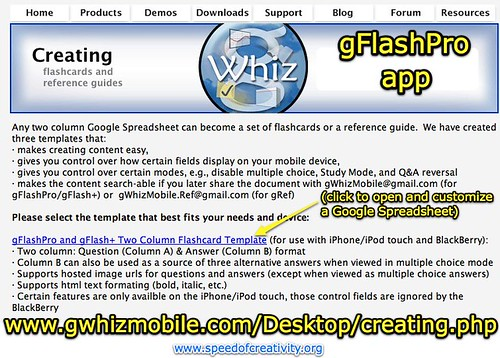 Creating customized flashcards for the iPhone and iPod Touch with gFlashPro
