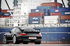 GT3. (Denniske) Tags: black canon photography eos is shoot noir photoshoot 10 04 automotive westvlaanderen 25 porsche april l shooting mm 25th dennis zwart 70200 nero f28 ef schwarz 2010 gt3 zeebrugge 997 fotoshoot noten lseries llens 40d denniske dennisnotencom porsche997gt3photoshootbydennisnotencom