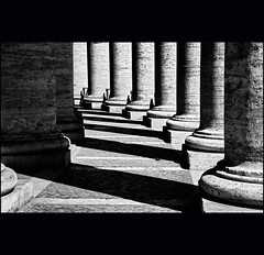 shadows (klaus53) Tags: light bw roma nikon shadows bn bernini piazzasanpietro kolonnaden