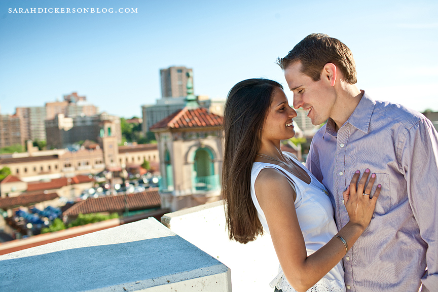 Kansas City Country Club Plaza engagement photos