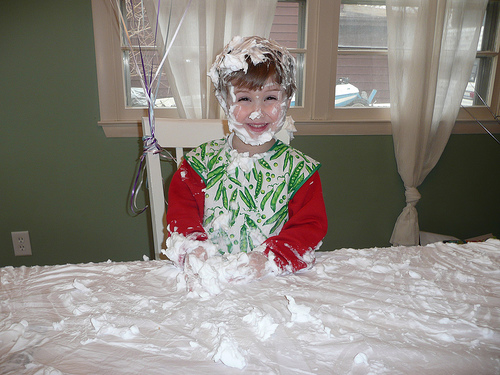 Shaving cream fun