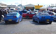 R34 Vs. R32 (Si 558) Tags: show park max car skyline nissan power international custom tuning donny styling r32 donington customcar tuned r34 maxpower ists tunedcar