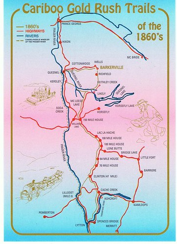 klondike gold rush map. Cariboo Gold Rush Map Card