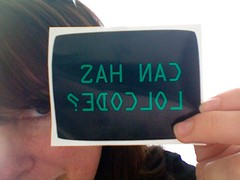 Can Has LOLCode? (joyent (textdrive)) Tags: kristiewells stickers lolcode lolcodestickers
