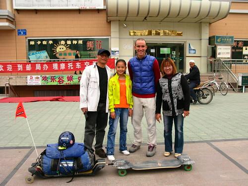 Helpful Philipino family in Jinghe, XInjiang, China