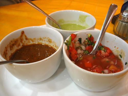 Salsas at La Chata
