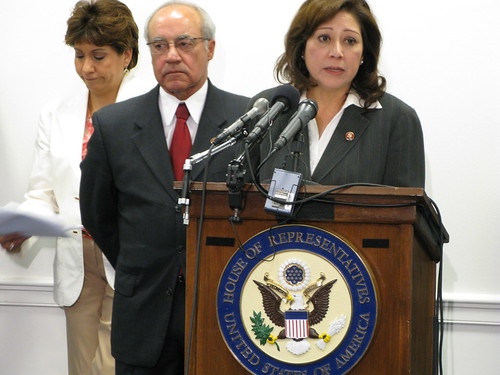 Janet Murguia, Rep. Joe Baca, Rep. Hilda Solis by HispanicCaucus.