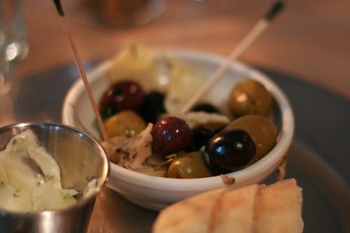 Olives, artichokes