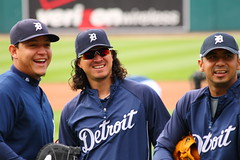 Three Amigos (Mario.Q) Tags: seattle park sunglasses baseball michigan detroit tigers mariners glove comerica warmups pregame rightfield battingpractice mlb firstbase thirdbase canon30d miguelcabrera magglioordonez carlosguillen canon70300mmf456isusm