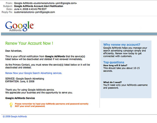 More Google AdWords Scams