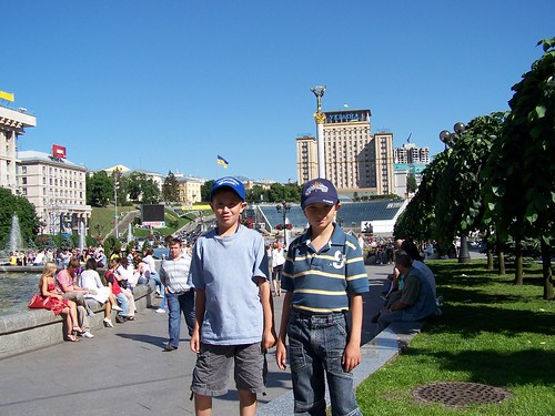 Joshua and Maxime in Kyiv