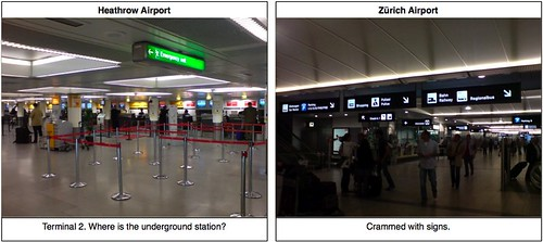 English vs. Swiss: Airport Signs