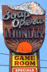Soap Opera Laundry (SeeMidTN.com (aka Brent)) Tags: sun sign tv soap opera neon surf tn nashville tennessee laundry laundromat suds specials soapopera gameroom us41 us31 us31w us431 dickersonpike bmok bmoknvsign bmokneon
