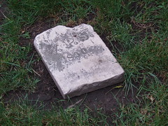 An Uprooted Headstone at St. John's Churchyard
