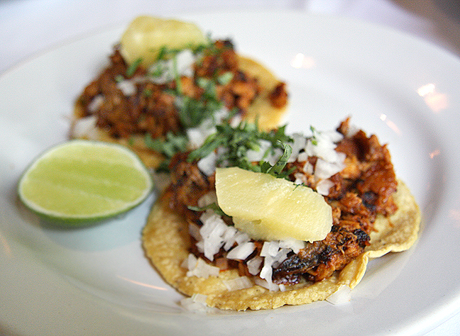 Contramar Pastor Fish Tacos