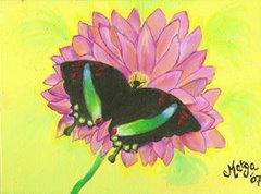 La mariposa verde