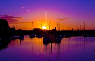 Sunset Whitehaven harbour