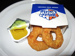 White Castle: Chicken rings and honey mustard
