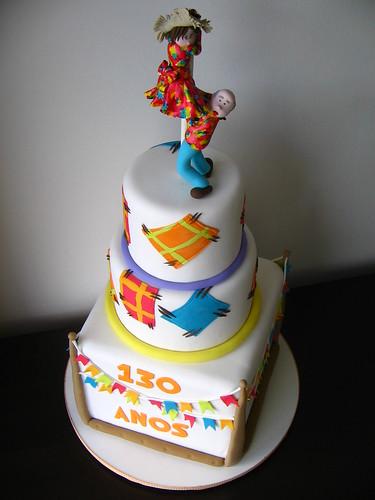 Bolo Festa Junina por Djalma Reinaldo (Cake Designer).