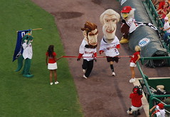 Abe Lincoln extended his presidents race winning streak on Saturday at Nationals Park