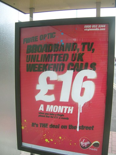 Virgin Media's bus stop advert