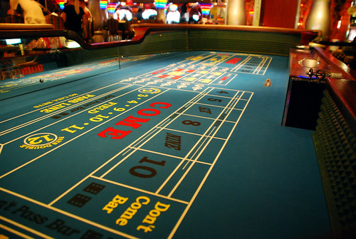 Craps table by Lisa Brewster, on Flickr