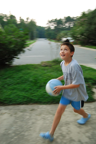 Peter Playing Basketball