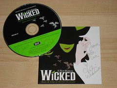 The Katie Webber autographed Wicked CD I got for Christmas.