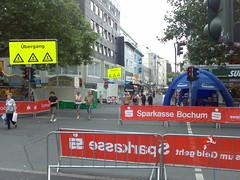 Vorbereitungen zum Sparkassengiro in Bochum