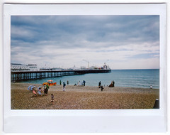 A Pier, A Beach and a Wedding Photographer (AndyWilson) Tags: beach pier brighton fuji 888 lifeguards instax instantfilm instax100 notpolaroid instaxwide 080808