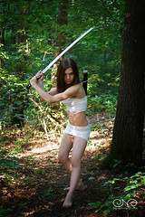 Buke Girl (__jersey) Tags: tree girl forest samurai katana survivor buke 080809