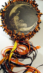 2nd Halloween Tambourine-sold (dragonflydesignstudio) Tags: art altered