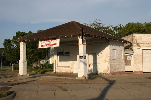 old service station in galveston