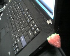 Its a plastic strawberry 4gb flash drive