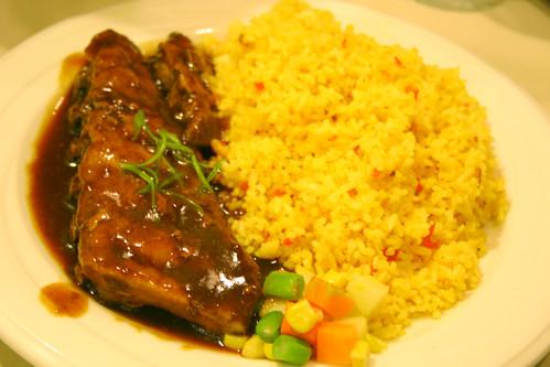 Pork ribs at Honeybear Chicken Haus