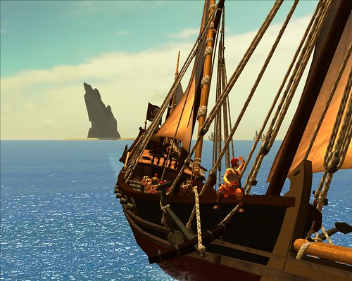 game boat pc screenshot ship screen lookout pirate corsair frigate mmo ageofsail xebec piratesoftheburningsea potbs flyinglab chebec