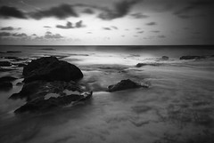 Day Ending - Aracibo, Puerto Rico (jogorman) Tags: ocean sunset bw white black water night evening twilight rocks long exposure puertorico atlantic jamesogorman aracebo aracibo notwixbarsthere