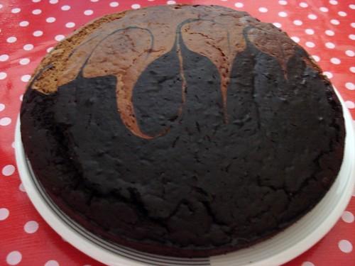 Vegan  marble  cake