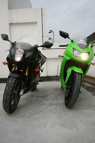 Kawasaki Ninja 600cc. a Kawasaki Ninja 250r and